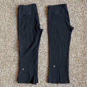 2 Pair Bundle Lululemon Sz 8 Crop Leggings